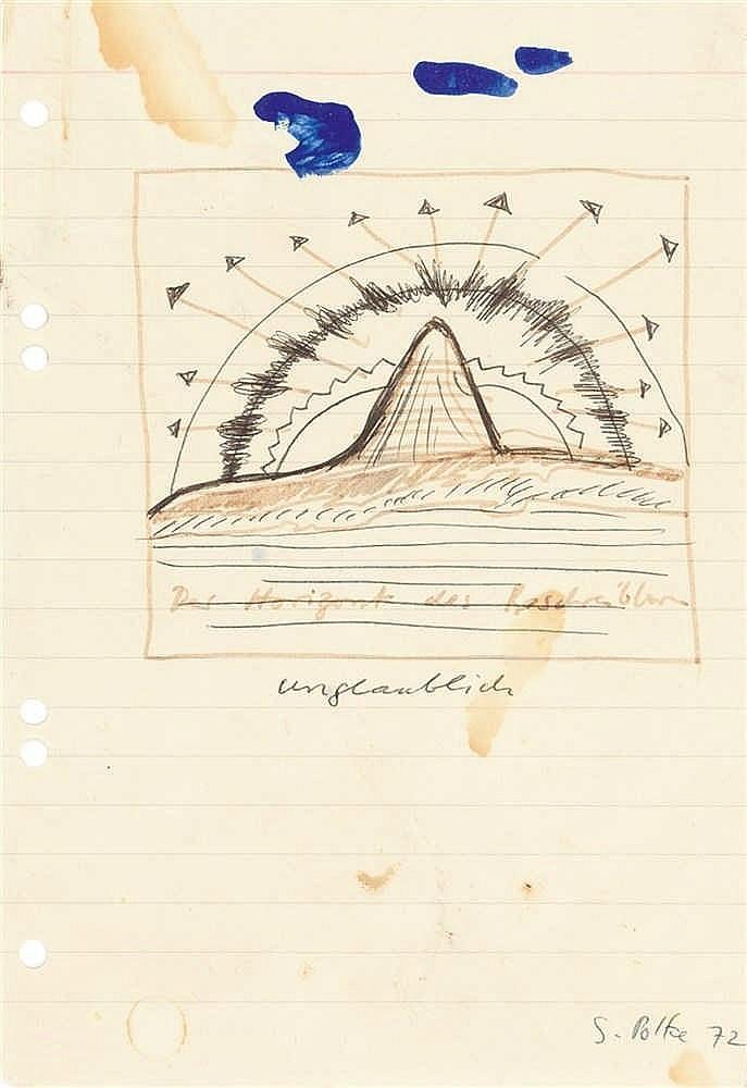 """Sigmar Polke – """"Der Horizont des Beschreibbaren. Unglaublich"""""""