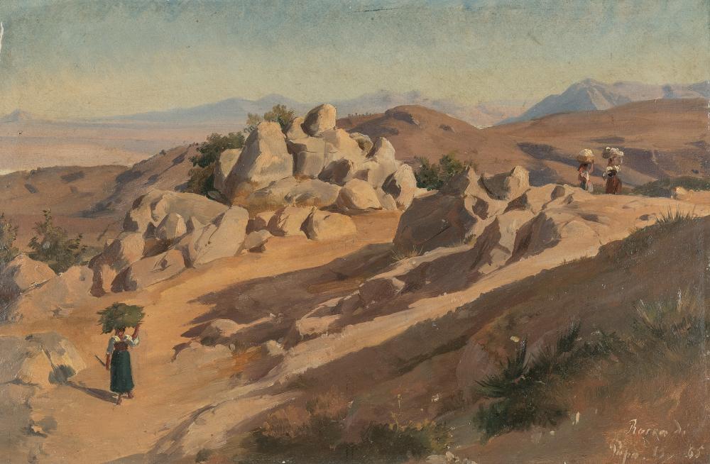 Friedrich Preller D. J. – Felsige Berglandschaft bei Rocca di Papa