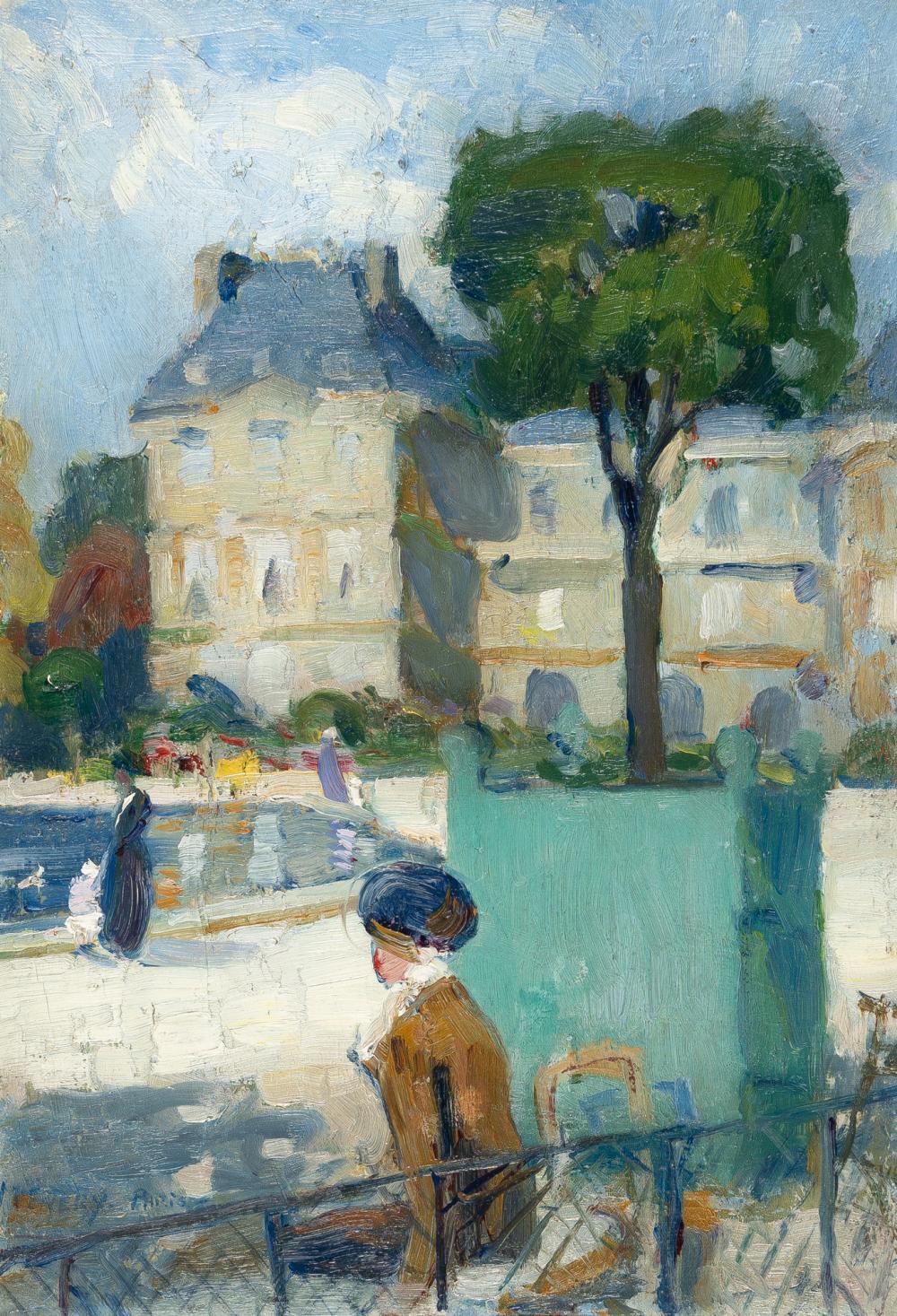 Französisch – Recto: Pariser Parkszene – Verso: Französische Riviera