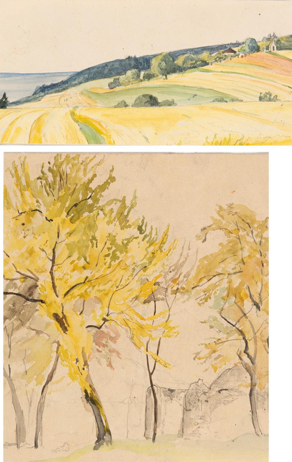 Edward Theodore Compton – 7 Bll.: Landschaftsskizzen
