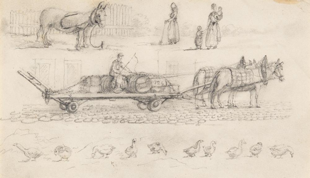 Johan Christian Clausen Dahl – Pferdefuhrwerk (Bäuerliche Szenen)