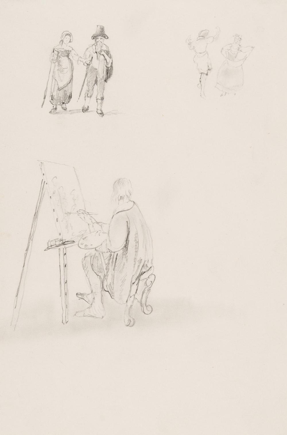 Johan Christian Clausen Dahl – Maler, vor seiner Staffelei sitzend (Figürliche Szenen)