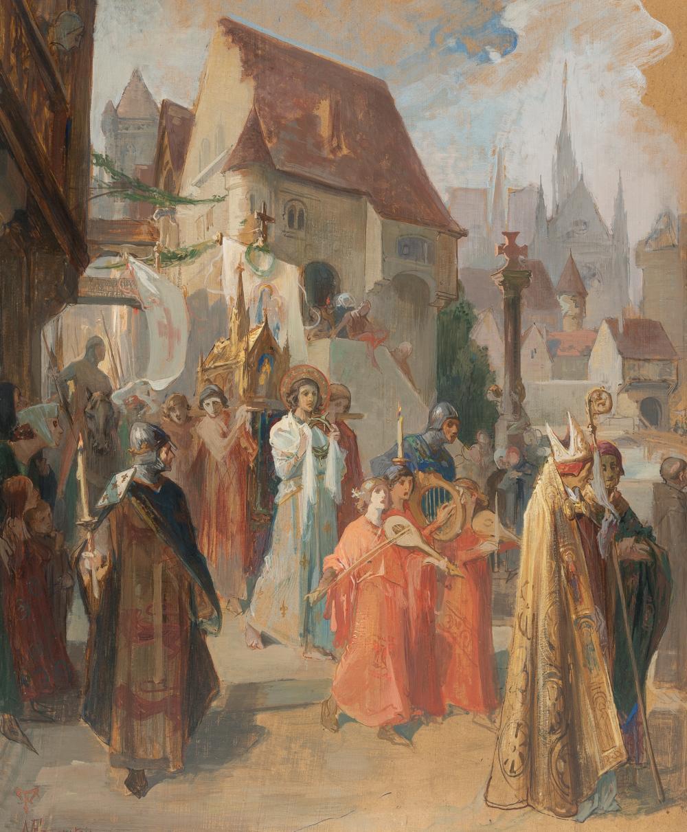 Martin Von Feuerstein – Überführung der Dornenkrone nach Paris durch Ludwig IX. von Frankreich