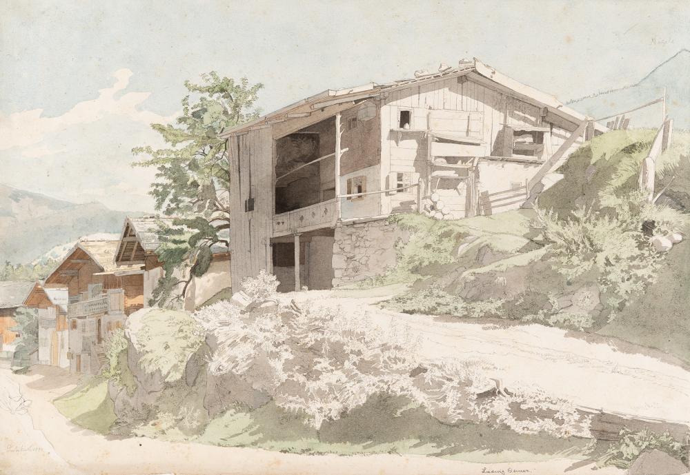 Ludwig Deurer – Häuserzeile in Partenkirchen