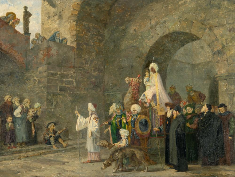 Maximilian Dasio – Orientalische Szene (Einzug durch das Stadttor)