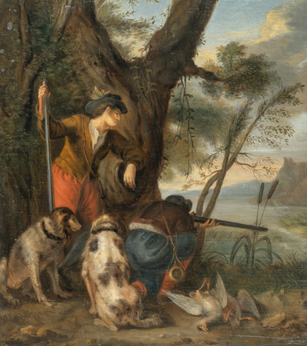 Adriaen Cornelisz. Beeldemaker – Zwei Jäger mit ihren Jagdhunden