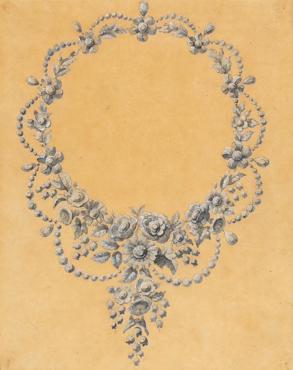 Französisch – Entwurf für ein Collier