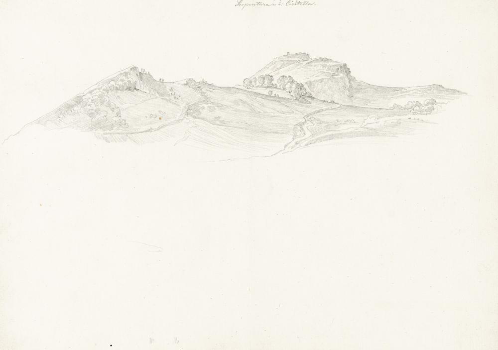 Johann Joachim Faber – Blick über die Serpentara nach Civitella