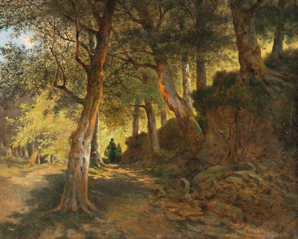 Anton Altmann D. J. – Durchlichteter Waldweg