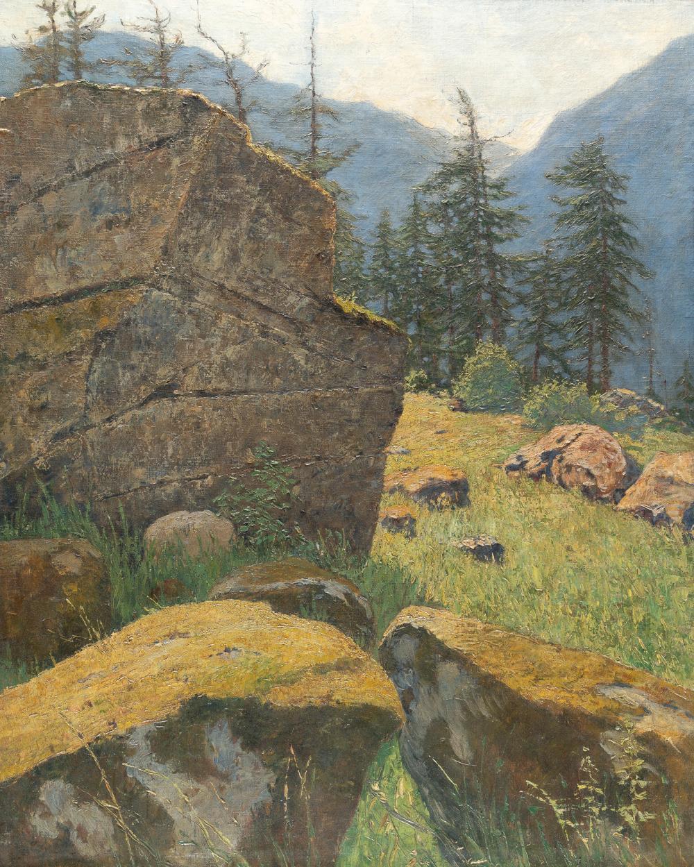 Carl Arp – Gebirgslandschaft bei Garmisch