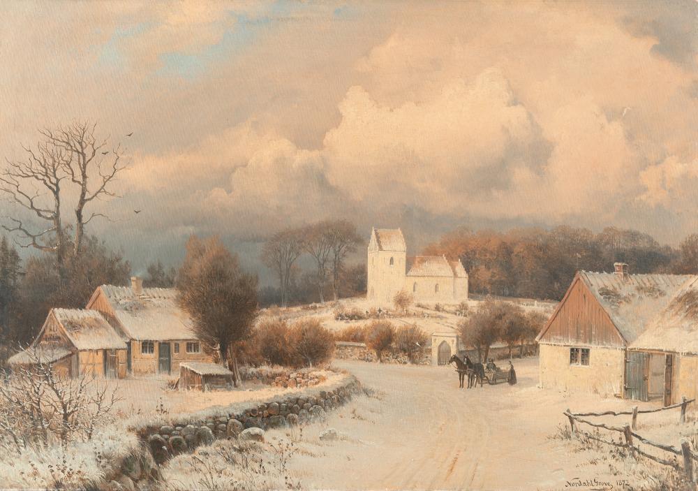 Nordahl Grove – Dorf im Winter
