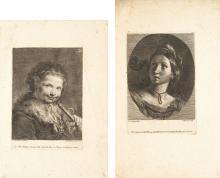 Francesco Polanzani – 2 Bll.: Knabe eine Spielzeugtrompete haltend – Porträt einer jungen Dame