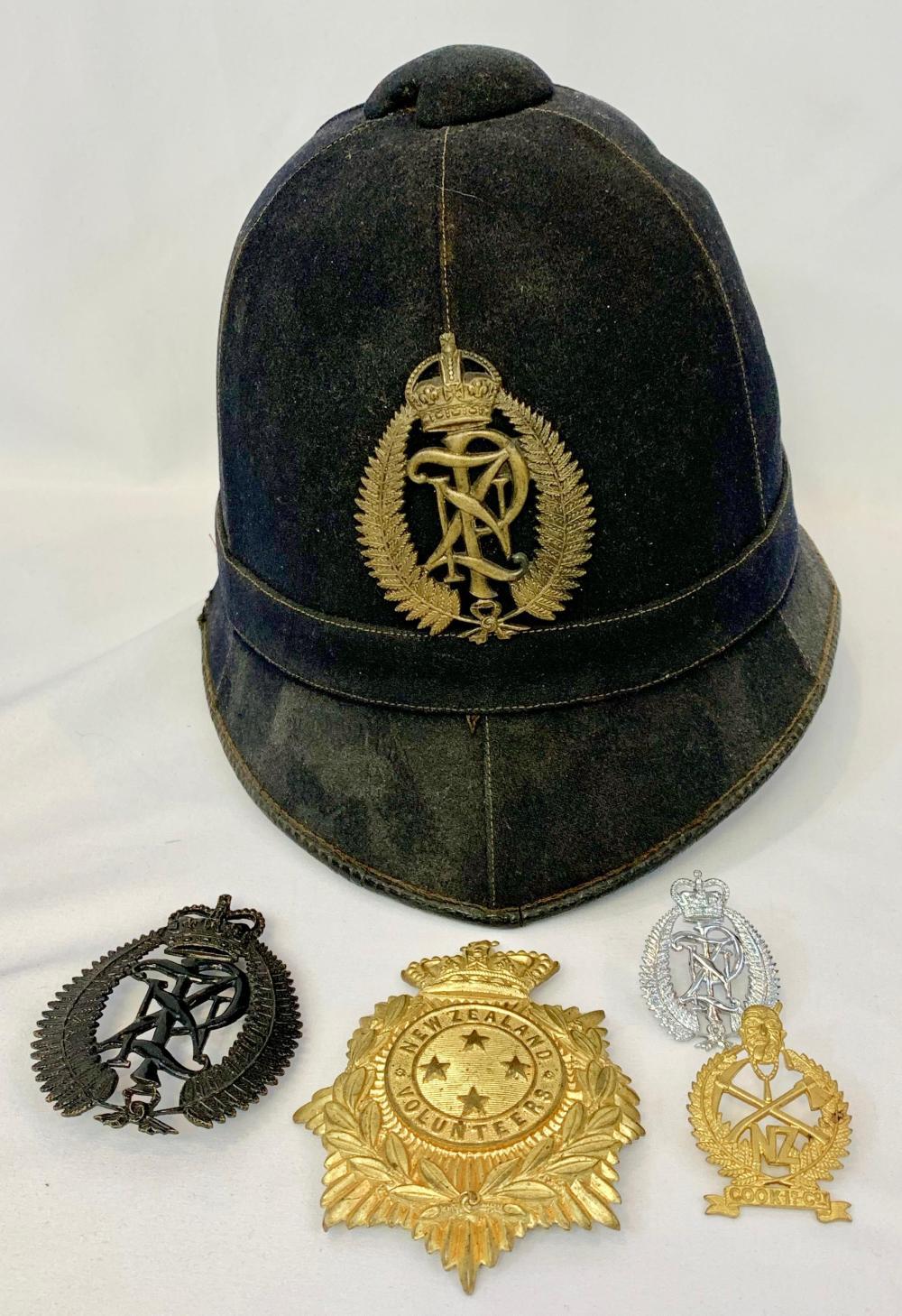 New Zealand Police Badges & Helmet