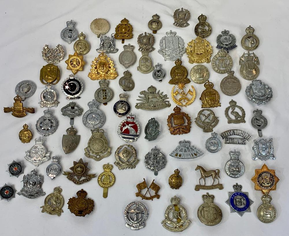 70 British & Commonwealth Police Badges