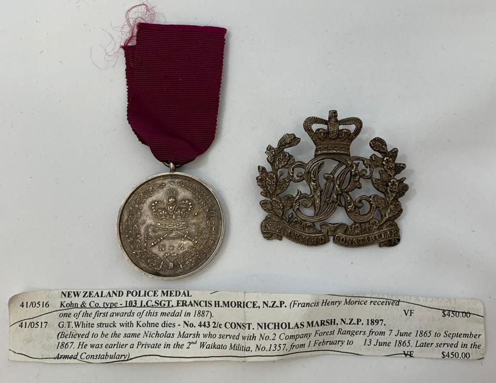 Victorian New Zealand Police Medal & Badge