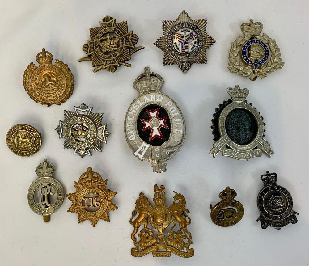 12 Vintage British Commonwealth Police Badges