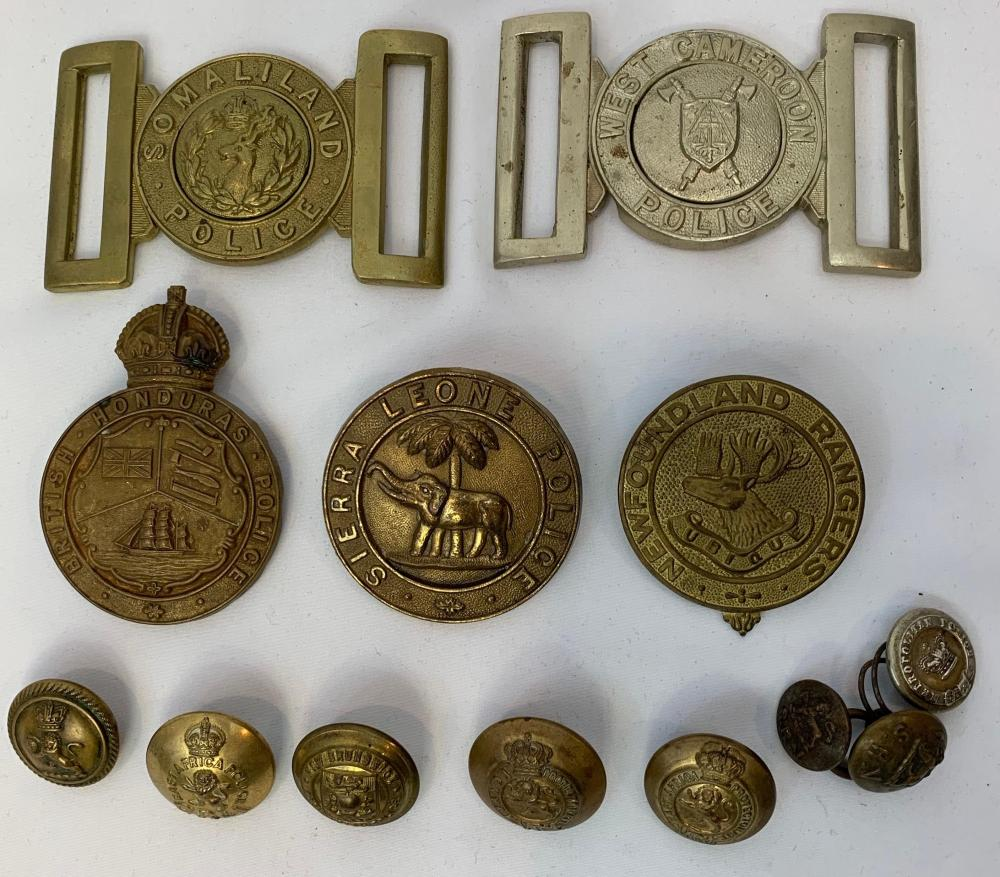Commonwealth Police Buckles, Badges & Buttons