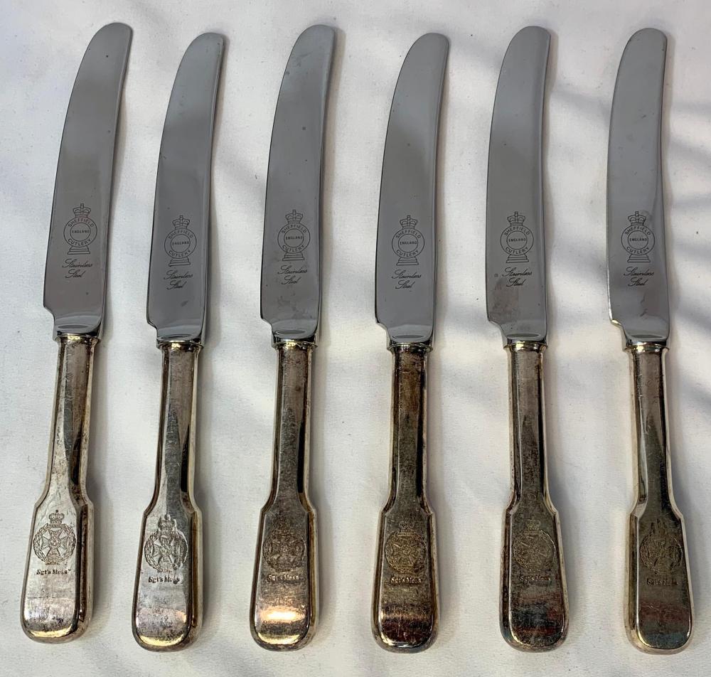 Set of British Regimental Mess Knives