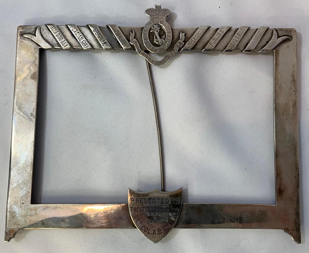 Royal Marine Regimental Silver Presentation Frame