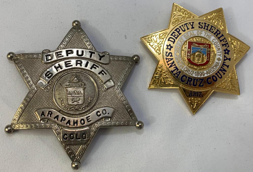 Two Obsolete Western Sherriff Badges