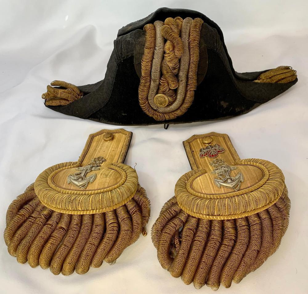 Identified Japanese WWII Navy Hat & Epaulettes