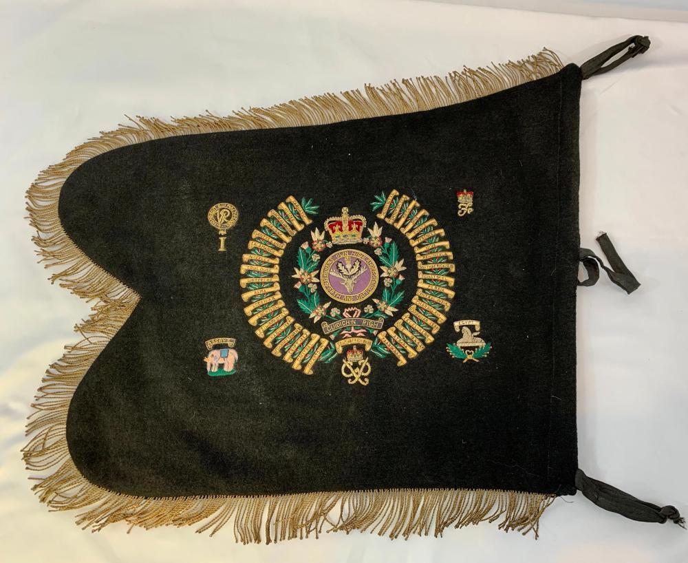Seaforth Highlanders Regimental Pipe Banner