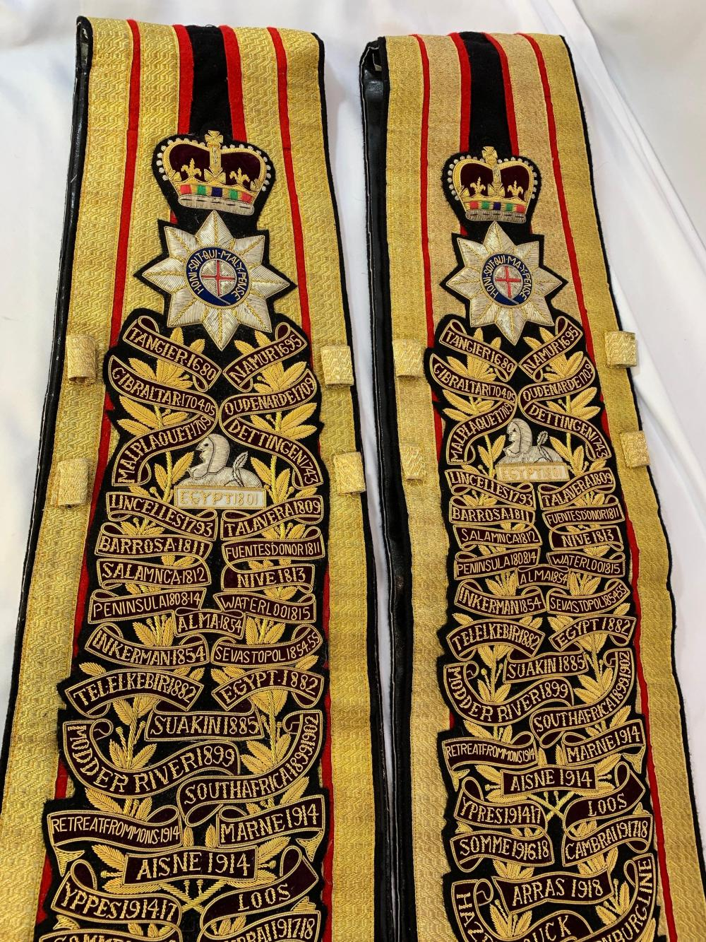 Coldstream Guards Drum Major's Sashes