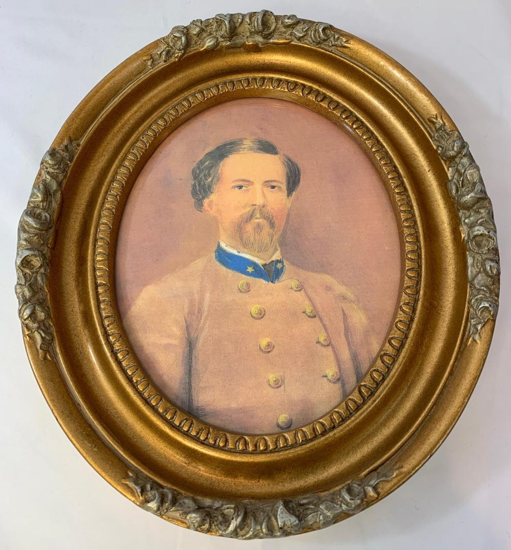 Painting of Confederate Officer