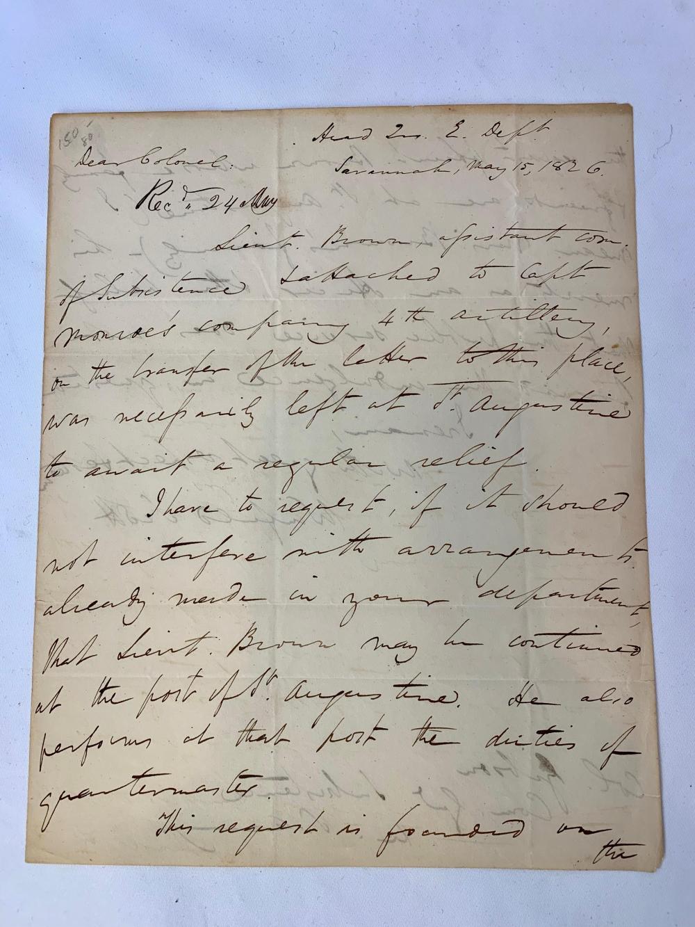 Winfield Scott Military Letter