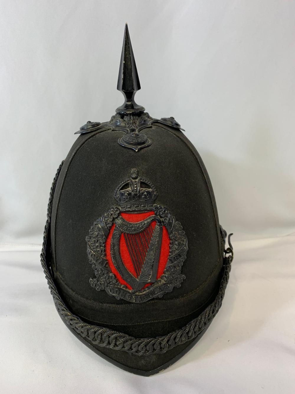 Scarce Royal Irish Constabulary Helmet