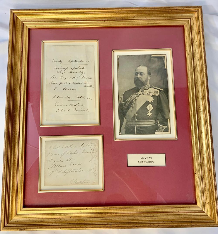 Edward VII Framed Document