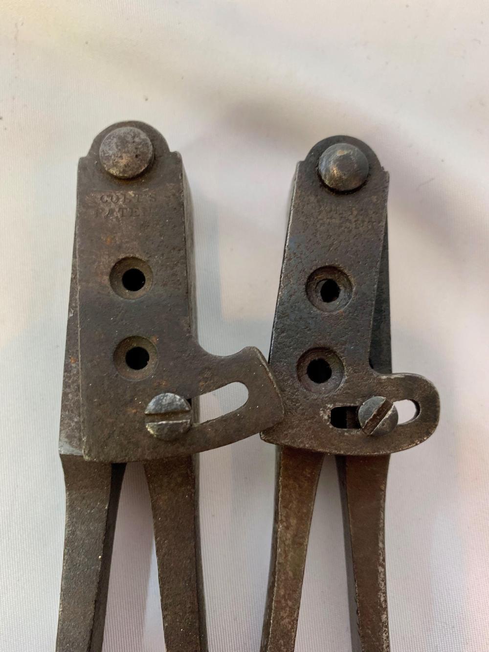 Two Colt Bullet Molds