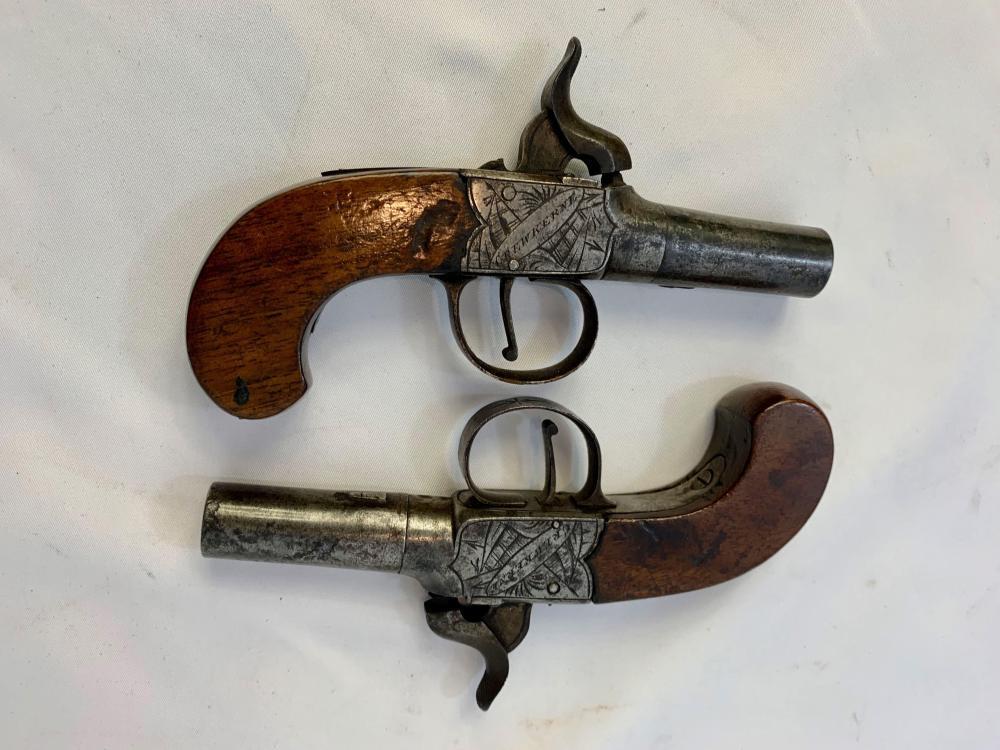 Pair of British Muff Pistols