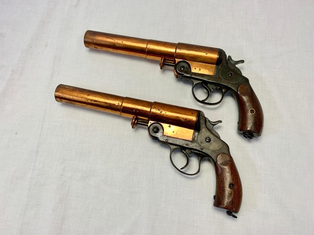 Pair of Arabic Flare Pistols