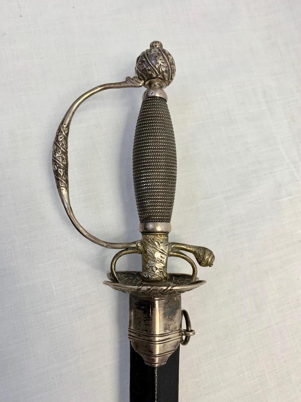 Stunning British Silver Hilt Sword