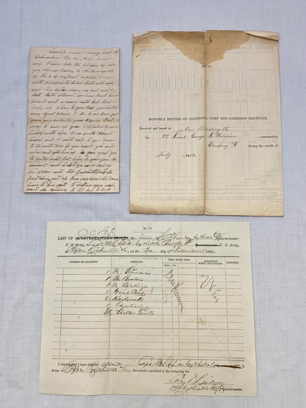 Three Civil War Documents
