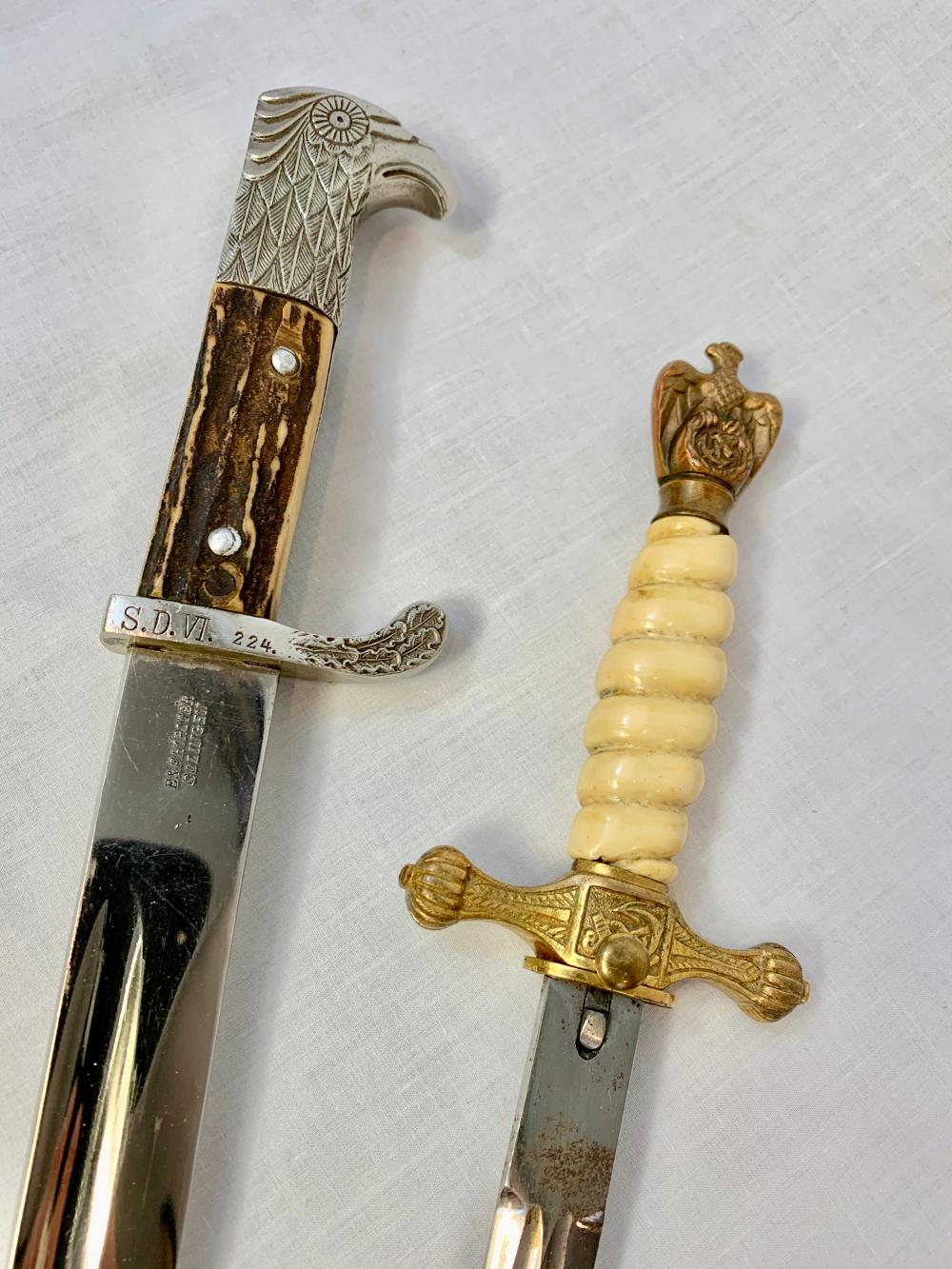 Two German WWII Edged Weapons