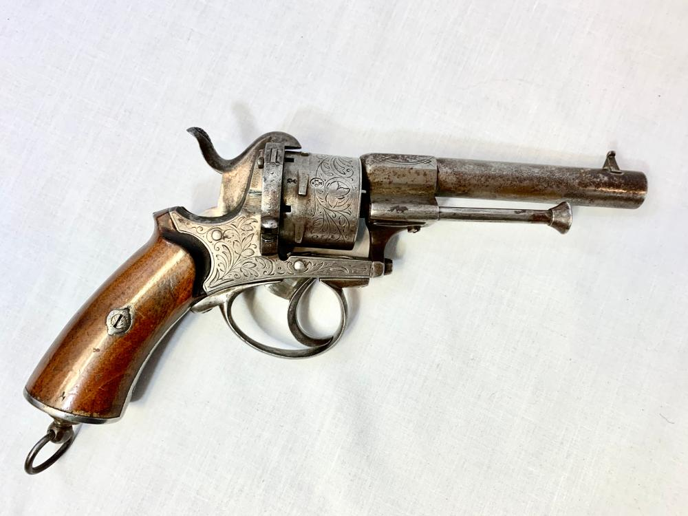 Engraved Pinfire Revolver