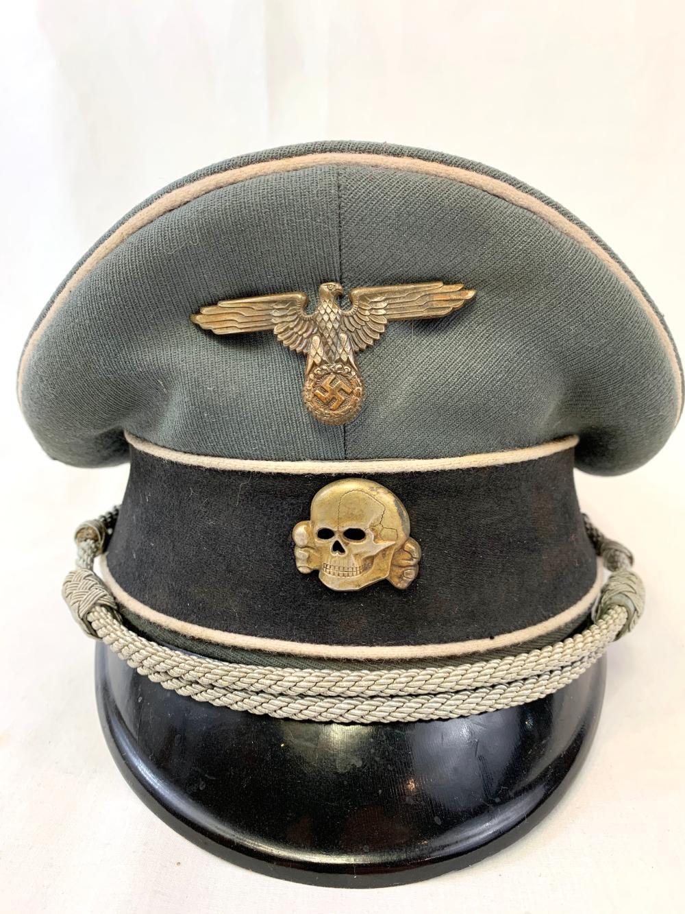 WWII German SS Visor Hat