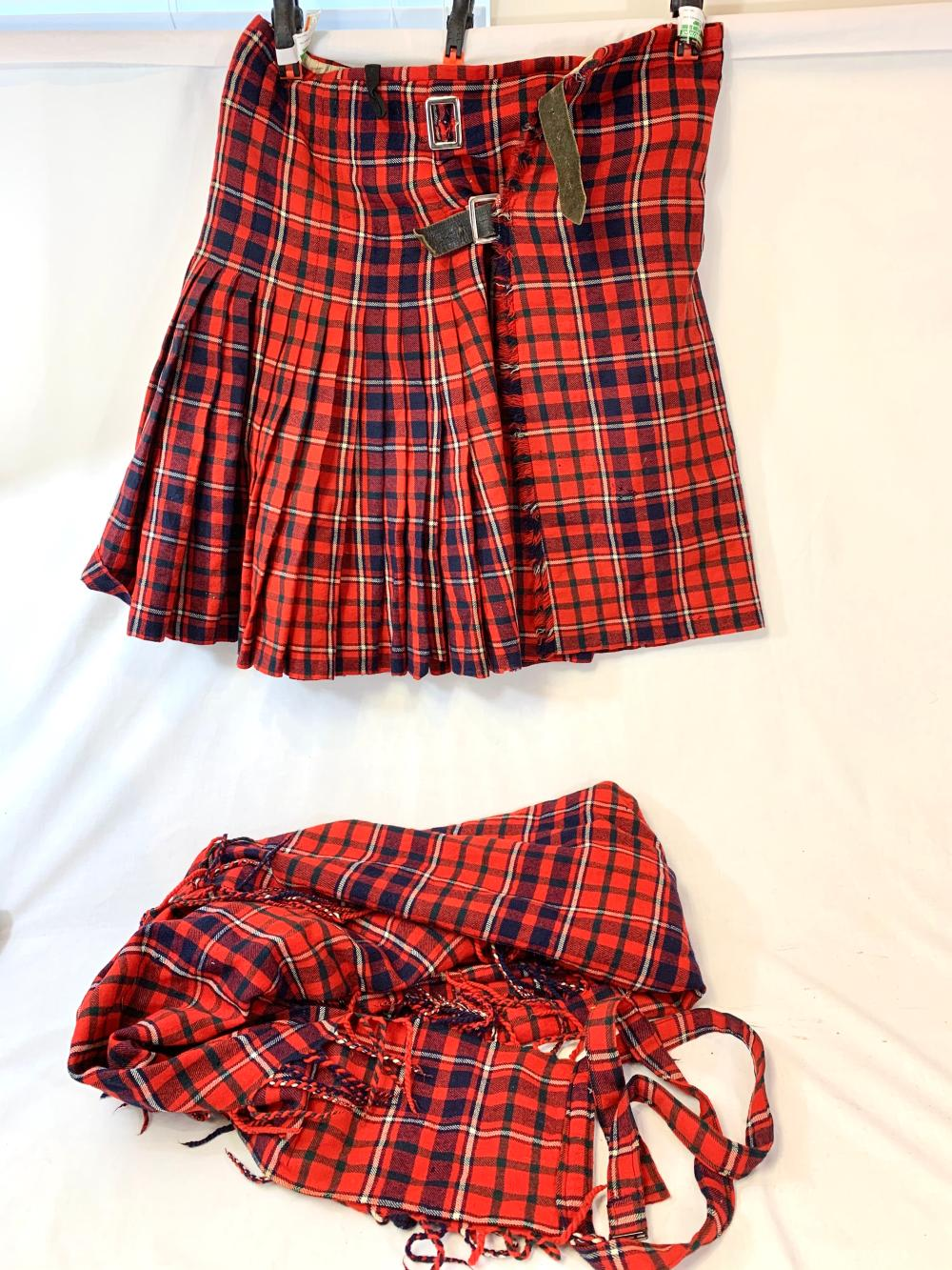 Vintage Scottish Kilt & Plaid