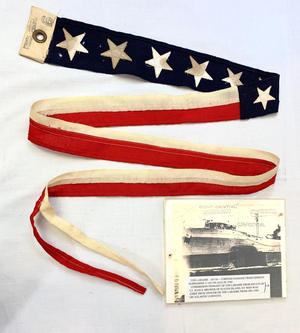 WWII Navy Flag USS Laramie