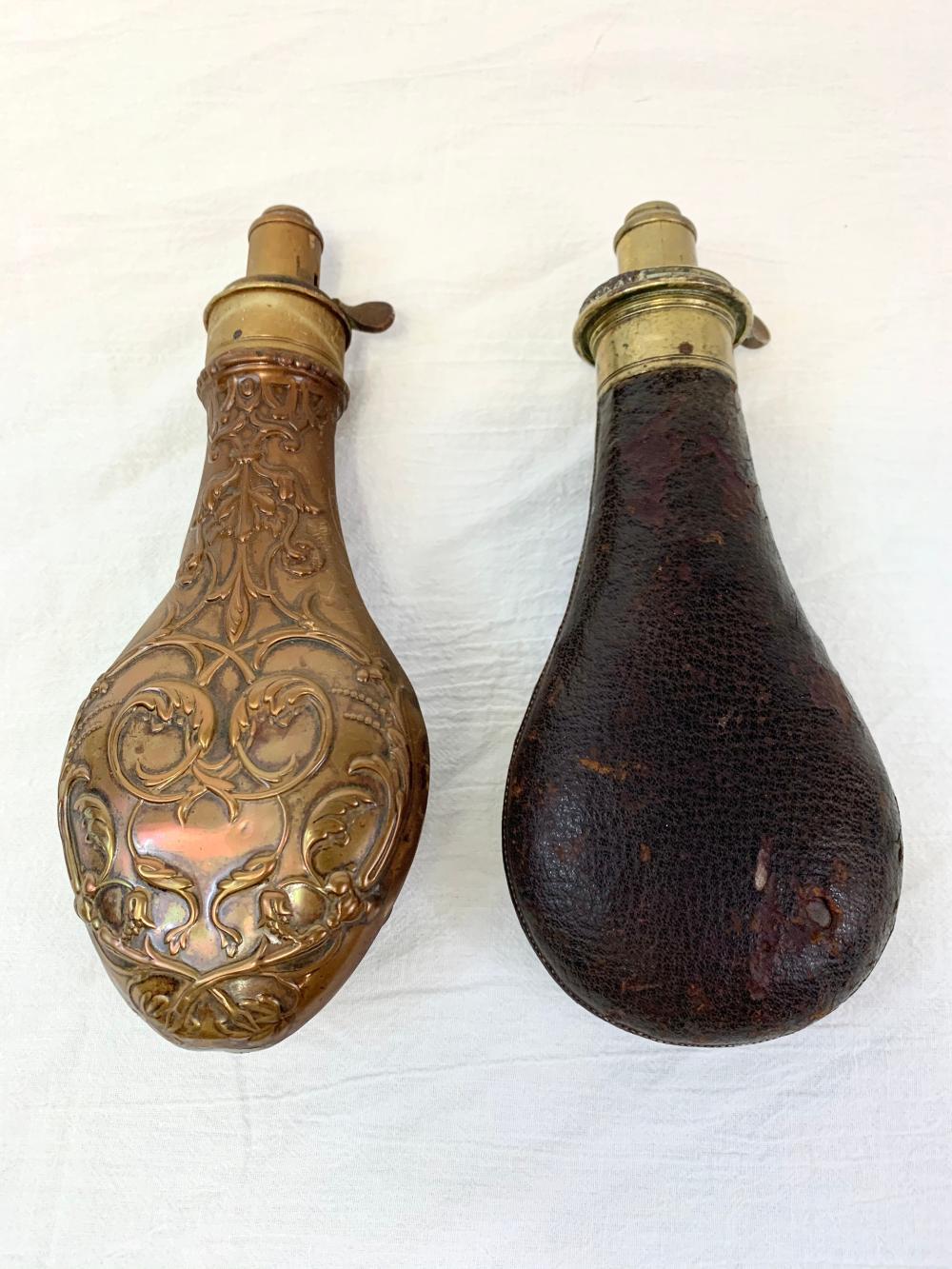 Two Antique Powder Flasks