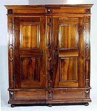Cabinet made of walnut wood