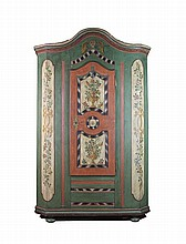 North German -painted cabinet