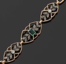 Zartes Armband des Jugendstil. 750er GG. ...