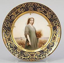 Porträtteller Ruth. Porzellanfabrik C. M....