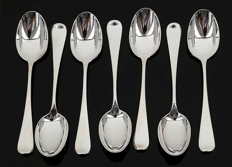 12 Mokkalöffel. 800er Silber. Punzen: Herst.-...