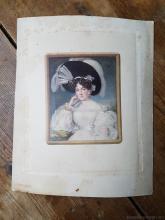Karl Von Saar Colored Print Portrait of a Lady
