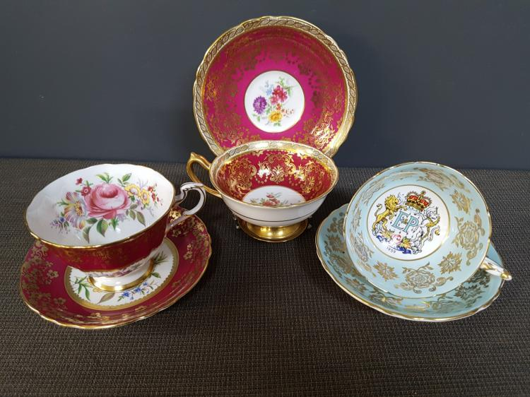 Lot of 3 Paragon Teacups and Saucers