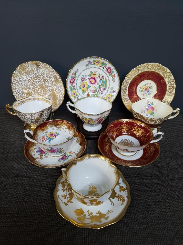 Lot of 6 Hammersley Teacups and Saucers